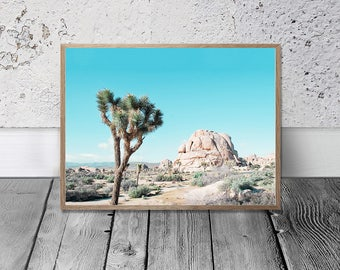 Desert Print - Joshua Tree Print, Digital Print, Nature Photo, Californian Desert Photo, Southwestern Decor, Arizona Printable, Rock Photo