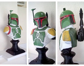 Boba bust (PAINTED)