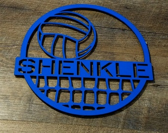 """Volleyball Award, Team Award, Coach Gift, Senior Gift, Volleyball Gift  Personalized by color and personalized name.  6"""", 12"""", 24"""" Sizes."""