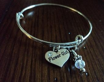 flower girl charm bracelet