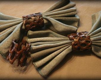 Cholla Cactus Napkin Ring (Burnt Umber)