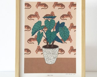 illustration, limited edition print (flora and fauna)