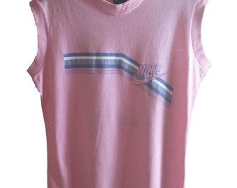 80's vintage NIKE sleeveless Women's T shirt, size Large