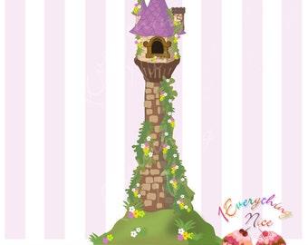 Rapunzel's Tower Tangled Clip Art
