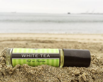 Mother's Day Gift // WHITE TEA    Roll on Perfume    Long lasting perfume    vegan perfume
