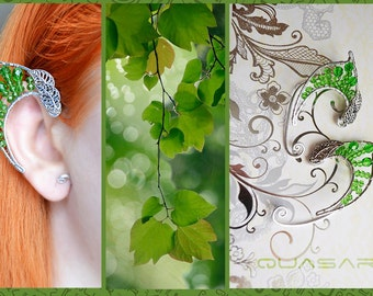 "Elven ear cuffs ""The foliage of elven forests"". earcuff, elven ears"