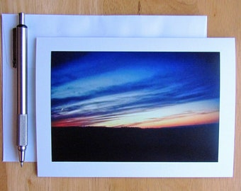 Sunset Note Card, Note Cards, Sunsets, Sky Note Card, Nature Note Card, Photo Note Card, Notecards, Stationery, Blank Cards, Cards