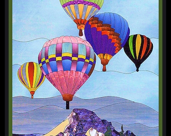 Hot Air Balloons over Mountains  Refrigerator Magnet