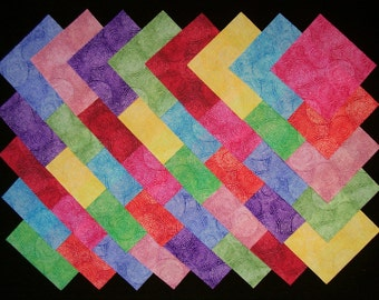 BRIGHT PIZZAZZ 4 inch Squares, 100% cotton Prewashed, Quilt Block Fabric  (#stk110B)