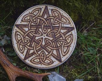 pentacle ~ Celtic Pentacle ~ Wood Pyrography