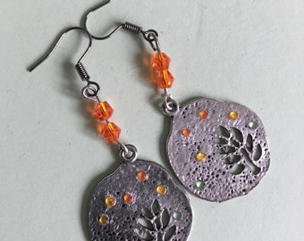 Autumn colours earrings