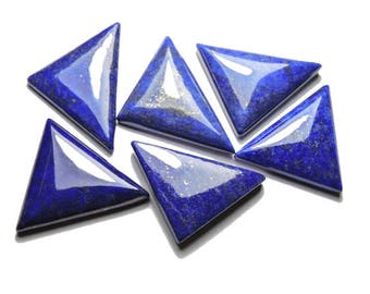 6 Pieces Extremely Beautiful Natural Top Quality Lapis Lazuli Fancy Triangular Shaped Loose Gemstone Size 41X23-32X24 MM
