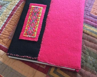 Boho Artist Sketchpad with Pencil Pocket Felt Cover