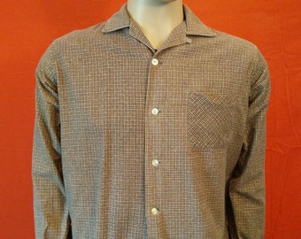 Vintage 60's Lanier men's long sleeve corduroy shirt size Medium zcGjV