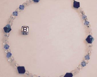 Aurora Borealis Bracelet With Blue Ice Crystals