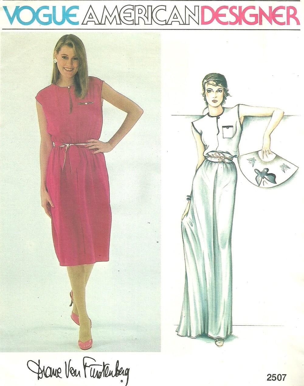 Vogue 2507 / Diane Von Furstenberg patrón de costura del