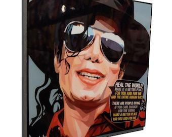 Michael Jackson Art Poster Painting Print Photo Framed Canvas Singer Music Pop
