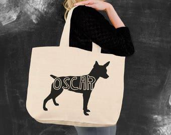 Rat Terrier | Rat Terrier Tote Bag | Rat Terrier Gifts | Canvas Tote Bag | Shopping Tote | Oregon Tee Company