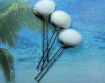Wedding Ivory Ark Seashell Hair Pins