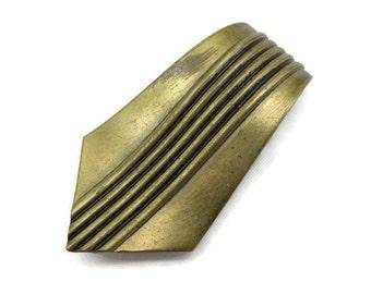 Art Deco Dress Clip - Brass