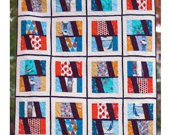 SALE!!!! Window View Quilt Pattern - Paper Pattern