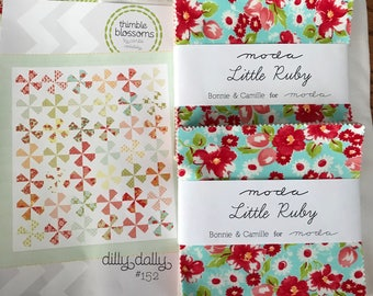 Dilly Dally Quilt Kit With Little Ruby Fabric from Bonnie and Camille