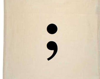 Semicolon Canvas Tote