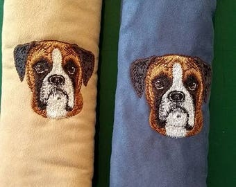 Embroidered Boxer Seat Belt Pad