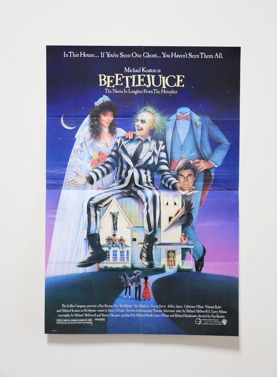 Original Theatrical One Sheet Film Poster - Beetlejuice, Tim Burton, Michael Keaton