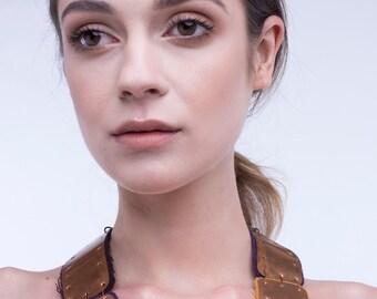 Copper necklace collar