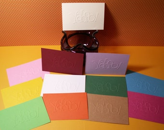 12 assorted colors shown embossed yahoo! layers