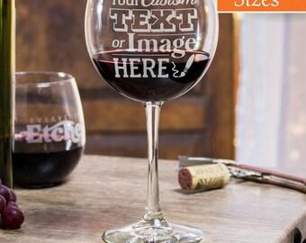 Custom Wine Glasses, Wine Glasses, Etched Wine Glass, Funny Wine Glasses, Personalized Gift, Graduation Gift, Stem Wine Glasses