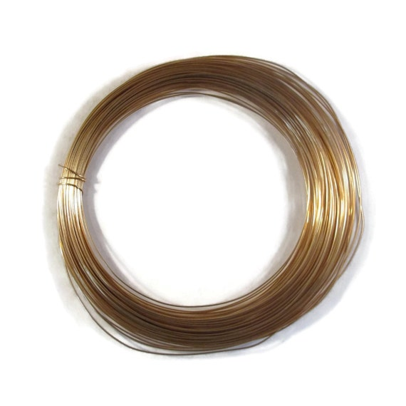 26 Gauge Wire, SOFT, Gold Filled Wire, By The Foot, Round, Thin Wire ...