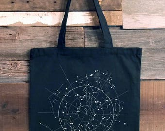 Tote Bag - Celestial Map of the Night Sky