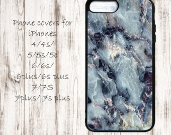 Blue marblephone cover - phone case for iPhone 4/4s/5/5s/5c/6/6s/6+/6s+/7/7+/8/8+/X - blue marble case for iphone