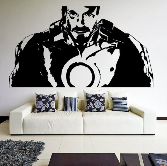 Vinyl Wall Decal Tony Stark From Movie Iron Man Robot Suit