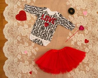 Love Sequin Heart Onesie