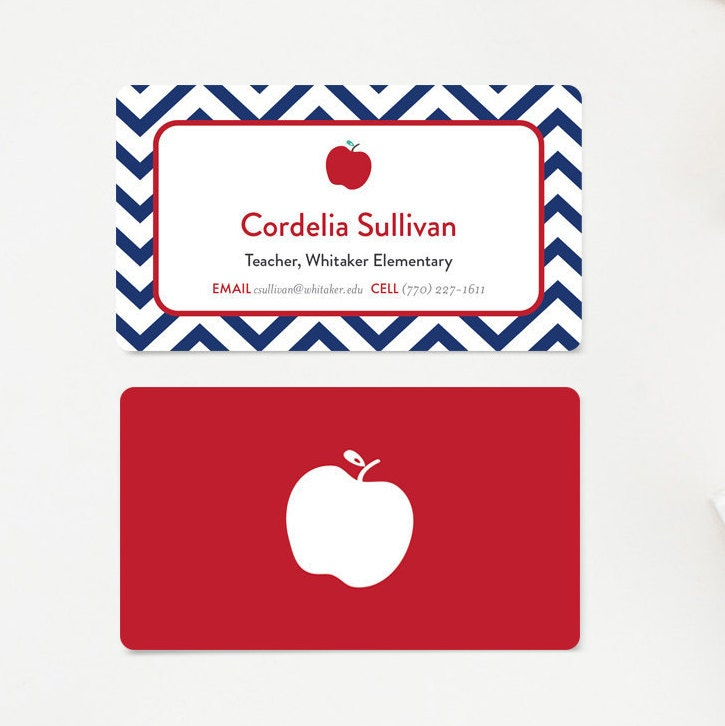 Teacher Business Card Calling Cards Mommy Card Gift for