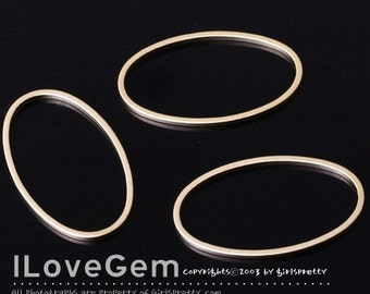 NP-784 Matt Gold-plated, M-size, simple oval ring, 4pcs