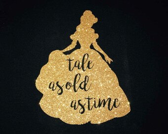 Beauty and the Beast - Belle - Tale as Old as Time SVG - PNG