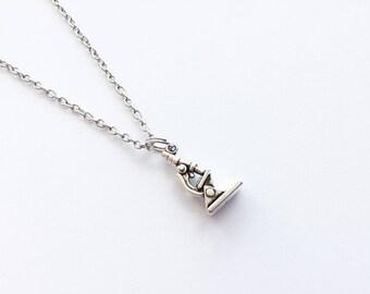 MICROSCOPE Necklace Science Necklace STEM Necklace Biology Necklace Chemistry Necklace Microscope Jewelry Science Jewelry Science Gifts