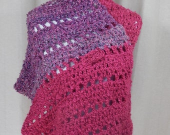 Super Soft Pink/Purple Wrap/Shawl/Scarf
