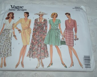 Vogue 2927 Misses Top and Skirt  Sewing Pattern - UNCUT -  Sizes 8 10 12