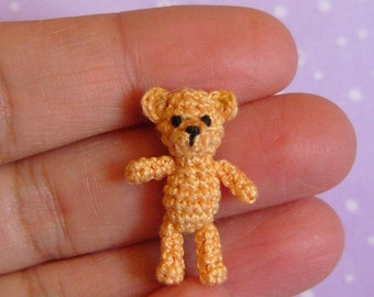 PDF PATTERN - Crochet Miniature Orsino Bear - Amigurumi Tutorial