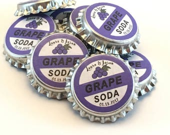 Disney Up Grape Soda Bottle Top Magnets Personalized 25 ct