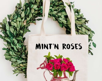 Tote Bag - Mint'n Roses