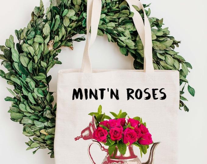 Tote Bag - Mint'n Roses