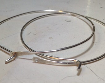 Hoops • Sterling Silver round hoops • small • medium • large • your choice • metalwork hoops • simple silver hoops • sterling silver hoops •