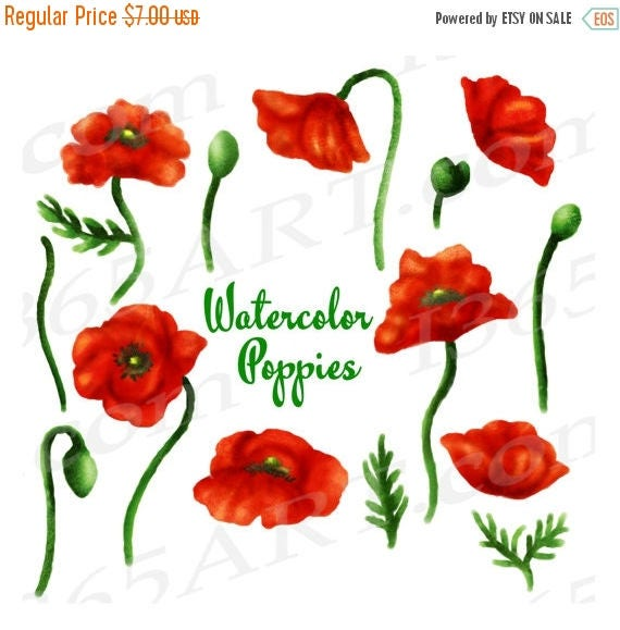 50 off poppy clipart watercolor poppies clip art watercolor mightylinksfo
