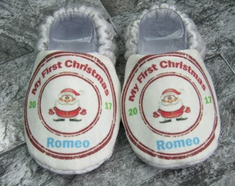 Personalised 'My First Christmas' booties, Baby Christmas booties, Available in sizes up to 12months!